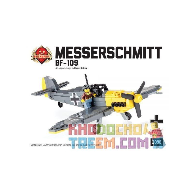 BRICKMANIA 2098 Xếp hình kiểu Lego MILITARY ARMY Messerschmitt Bf-109 Messerschmidt Bf 109 311 khối
