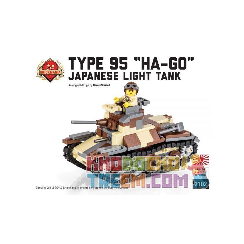 """BRICKMANIA 2102 Xếp hình kiểu Lego MILITARY ARMY Type 95 """"Ha-Go"""" Light Tank Type 95 Light Tank Ha-Go Xe Tăng Hạng Nhẹ Type 95 Ha-Go 288 khối"""