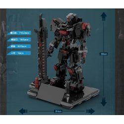 Decool 11001 12001 Jisi 11001 12001 Xếp hình kiểu Lego GAMES Spirit Cage MU-2 Heavy Three-dimensional MU-2 Nặng Ba Chiều gồm 2 hộp nhỏ 4841 khối