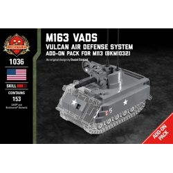 BRICKMANIA 1036 Xếp hình kiểu Lego MILITARY ARMY M163 VADS - Vulcan Air Defense System Pack For M113 M163 VADS - M113 Supplement Package Gói Tăng Cường M163 VADS-M113 153 khối