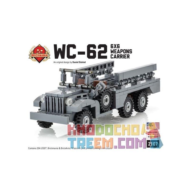 BRICKMANIA 2107 Xếp hình kiểu Lego MILITARY ARMY WC-62 6x6 Weapons Carrier WC-62 6x6 Weapon Carrier Nhà Cung Cấp Vũ Khí WC-62 6x6 234 khối