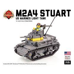 """BRICKMANIA 2125 Xếp hình kiểu Lego MILITARY ARMY M2A4 """"Stuart"""" US Marines Light Tank M2A4 Stuart US Navy Light Tank Xe Tăng Hạng Nhẹ M2A4 Stuart Của Hải Quân Hoa Kỳ 467 khối"""