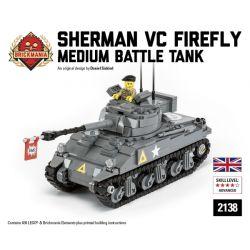 BRICKMANIA 2138 Xếp hình kiểu Lego MILITARY ARMY Sherman Firefly VC Sherman Firefly VC. 635 khối