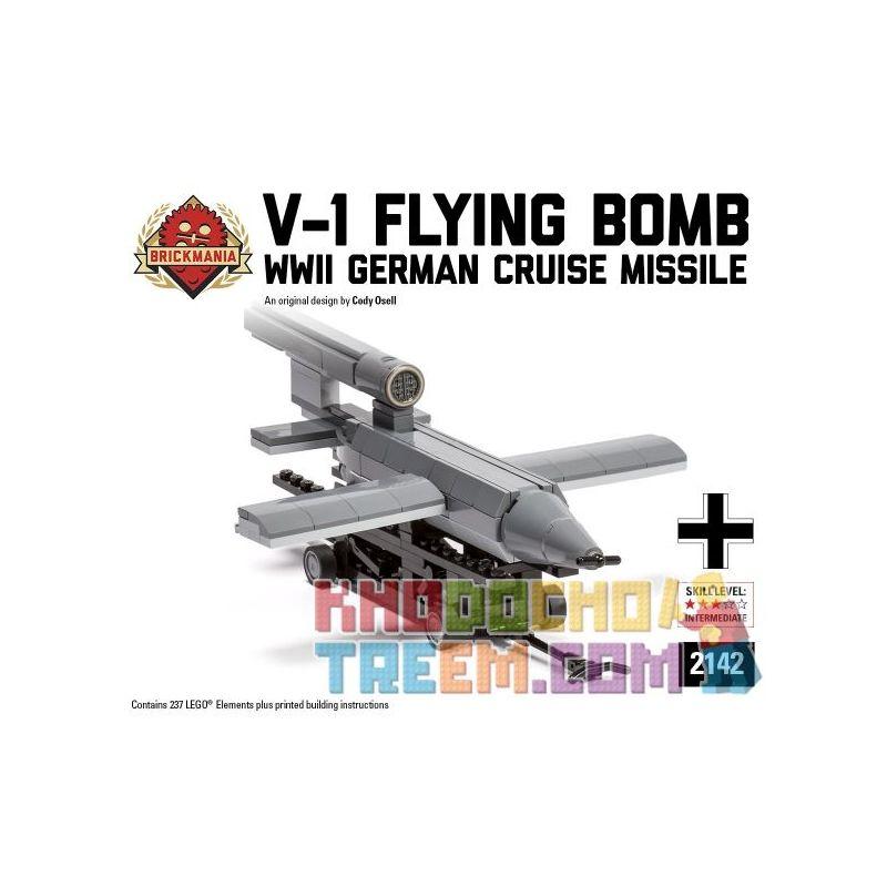 BRICKMANIA 2142 Xếp hình kiểu Lego MILITARY ARMY V-1 Flying Bomb V-1 Rocket Tên Lửa V-1 237 khối