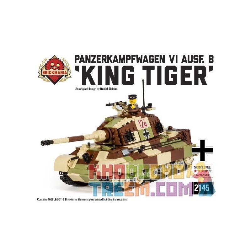 BRICKMANIA 2145 Xếp hình kiểu Lego MILITARY ARMY PzKfz VI King Tiger Tank Tiger King Xe Tăng Số 6 Tiger King 1028 khối