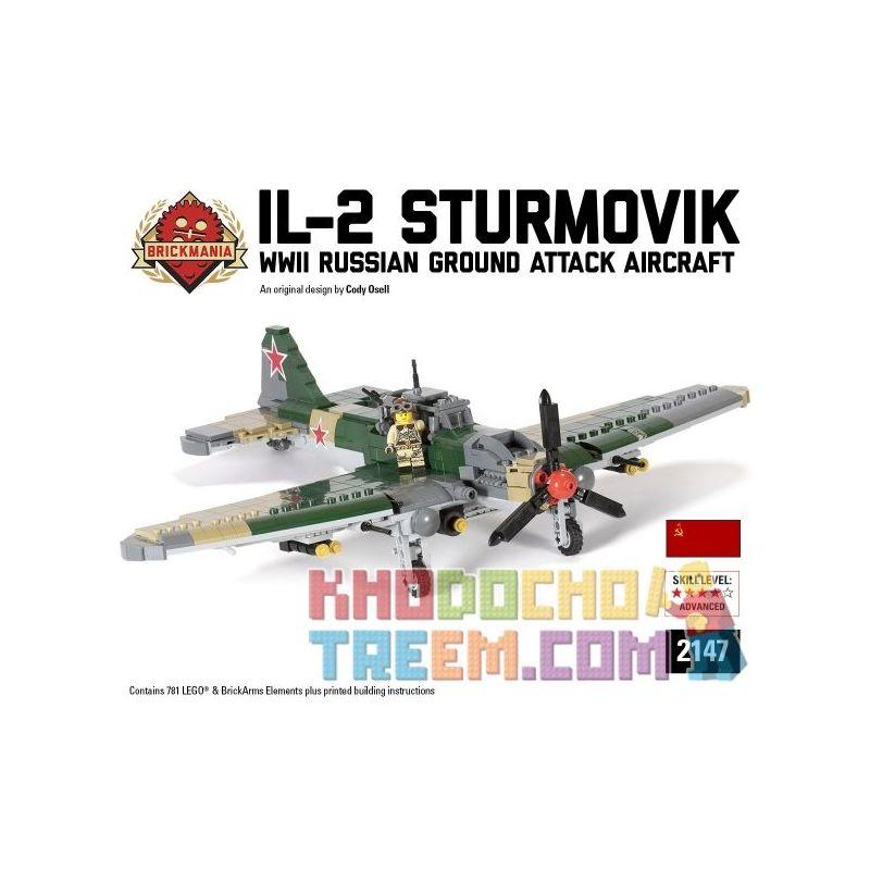 BRICKMANIA 2147 Xếp hình kiểu Lego MILITARY ARMY IL-2 STURMOVIK 781 khối