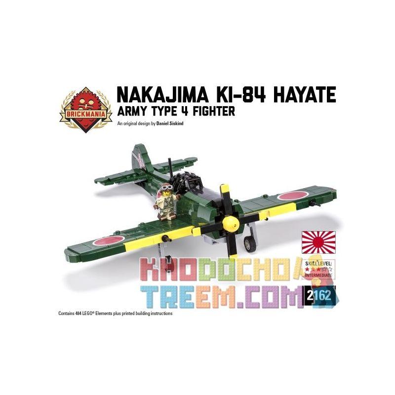 """BRICKMANIA 2162 Xếp hình kiểu Lego MILITARY ARMY Nakajima Ki-84 Hayate - Army Type 4 Fighter Zhongdao Ki-84 """"blast - Japan Army Four Fighter Nakajima Ki-84 """"Hayate-Máy Bay Chiến đấu Tứ Quân Nhật Bản 4"""