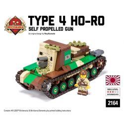 BRICKMANIA 2164 Xếp hình kiểu Lego MILITARY ARMY Type 4 Ho-Ro - Self Propelled Gun Four-style Self-contained Artillery Pháo Tự Hành 4 Loại 412 khối