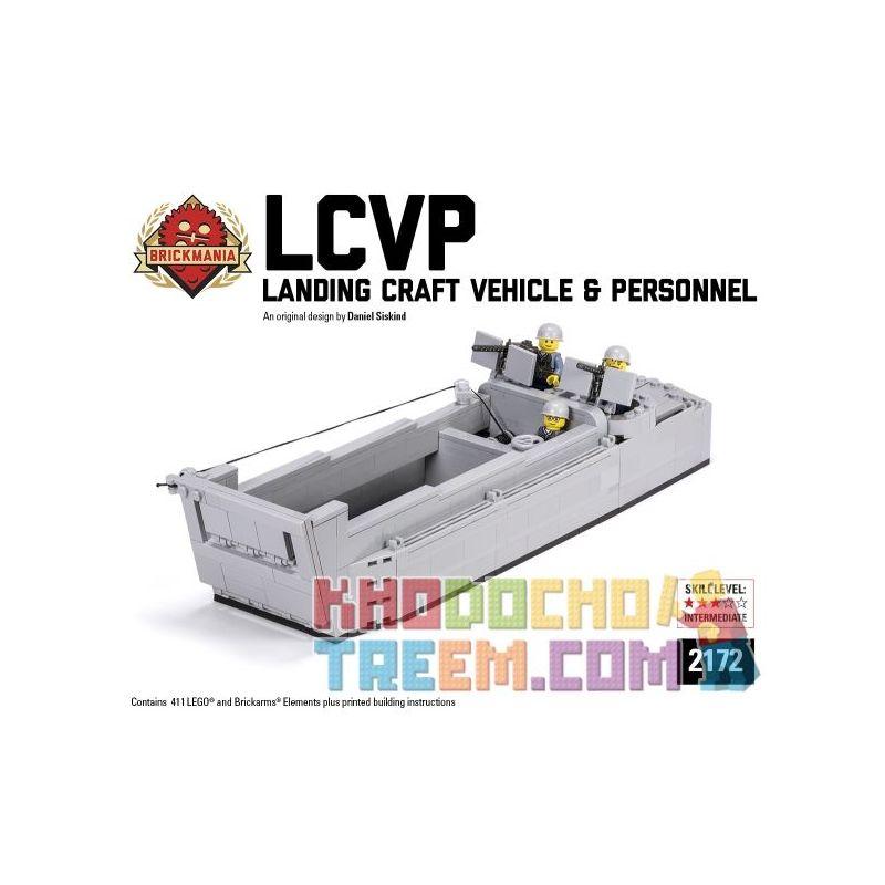 "BRICKMANIA 2172 Xếp hình kiểu Lego MILITARY ARMY LCVP ""Higgins Boat"" (2017 Edition) LCVP ""Higgins Boat"" (2017版) LCVP ""Higgins Boat"" (2017 版) 411 khối"
