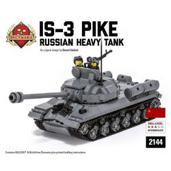 BRICKMANIA 2144 Xếp hình kiểu Lego MILITARY ARMY IS-3 Pike - Russian Heavy Tank IS-3 Pike-xe Tăng Hạng Nặng Của Nga 927 khối