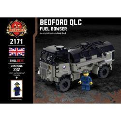 BRICKMANIA 2171 Xếp hình kiểu Lego MILITARY ARMY Bedford QLC - Fuel Bowser Bedford QLC - Relief Car Bedford QLC - Xe Cứu Trợ 232 khối
