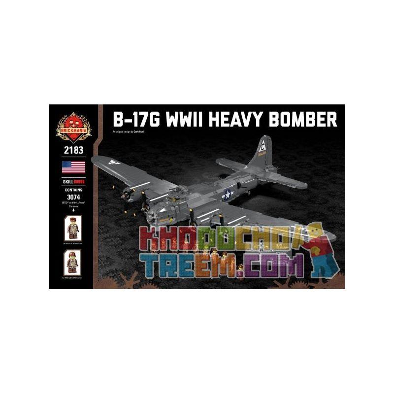 BRICKMANIA 2183 Xếp hình kiểu Lego MILITARY ARMY B-17G - WWII Heavy Bomber B-17G - World War II Heavy Bomber Máy Bay Ném Bom Hạng Nặng B-17G-Thế Chiến II 3074 khối
