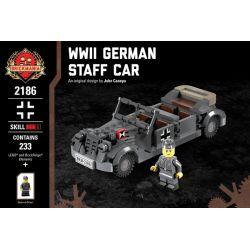 BRICKMANIA 2186 Xếp hình kiểu Lego MILITARY ARMY WWII German Staff Car World War II German Command Xe Chỉ Huy Của Đức Trong Thế Chiến II 233 khối
