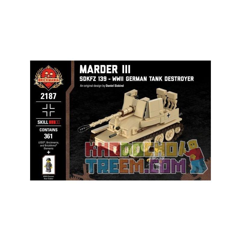 BRICKMANIA 2187 Xếp hình kiểu Lego MILITARY ARMY Marder III - SdKfz 139 - WWII German Tank Destroyer III SD.KFZ. 139 - World War II German Tank Weasel III Sd.Kfz. 139-Tàu Khu Trục Tăng Đức Trong Thế C