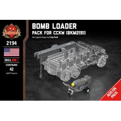 BRICKMANIA 2194 Xếp hình kiểu Lego MILITARY ARMY Bomb Loader - Pack For CCKW (BKM2191) Bomb Loader - CCKW (BKM2191) Supplement Gói Tăng Cường Bomb Loader-CCKW (BKM2191) 49 khối