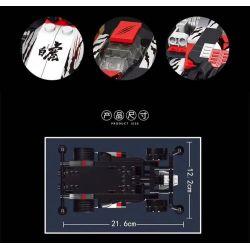 SHENZHEN RAEL ENTERTAINMENT 50019-1 50019-2 50019-3 50019-4 Xếp hình kiểu Lego TECHNIC Intelligent Remote Control Four-wheel Drive Speed Remote Control Version 4 Điều Khiển Từ Xa Tốc độ Bốn Bánh Phiên