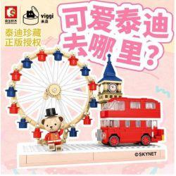 VIGGI 516000 Xếp hình kiểu Lego MOVIES Teddy Bear Collection We Love London Teddy Collection Chúng Tôi Yêu London 394 khối