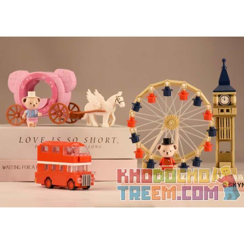 VIGGI 516001 Xếp hình kiểu Lego MOVIES Teddy Bear Collection Floral Story Of A Cherry Blossom Teddy Collection Sakura Story Truyện Sakura 152 khối