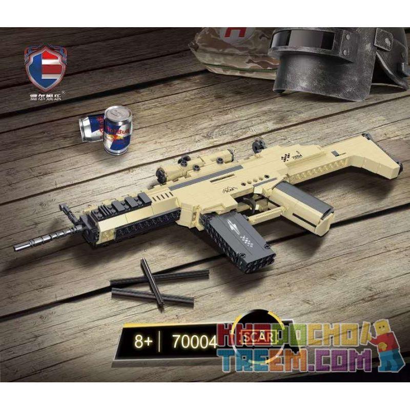 SHENZHEN RAEL ENTERTAINMENT 70004 Xếp hình kiểu Lego TECHNIC SCAR Assault Rifle Súng Trường Tấn Công SCAR 385 khối