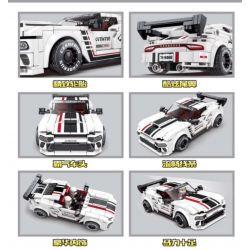 LEYI 31016 Xếp hình kiểu Lego RACING Passion Car War Horse Back Ngựa Chiến Kéo Xe Trở Lại 365 khối