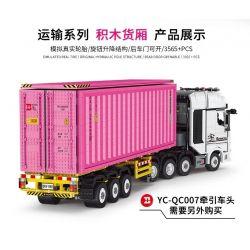 HAPPY BUILD SHINEYU XINYU YC-QC013 QC013 YCQC013 Xếp hình kiểu Lego BUILD TEAM ShineYU Container Yudu House Pink Red Goods 1 10 Khoang Hàng Màu Hồng 1 10 3565 khối