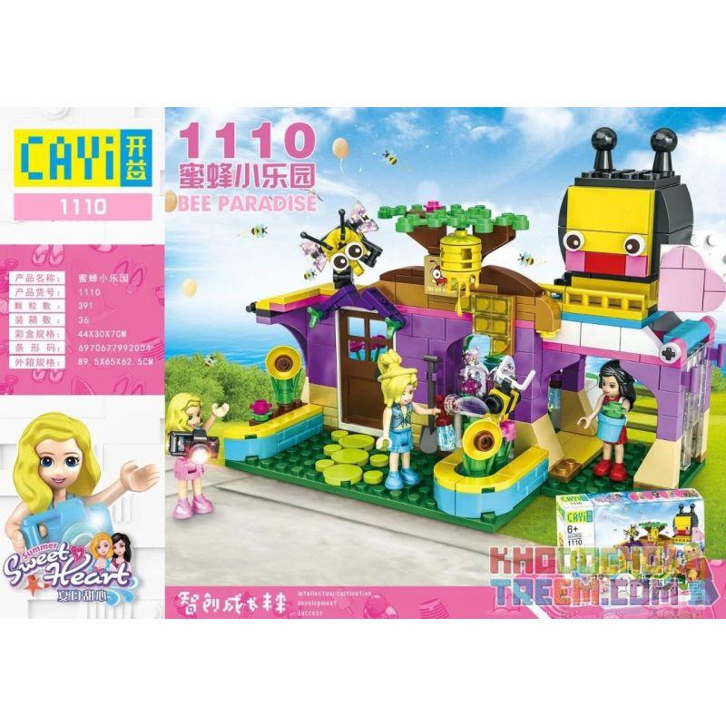 CAYI 1110 Xếp hình kiểu Lego SWEET HEART Summer Sweet Heart Bee Paradise Summer Sweetheart Bee Treasure Park Thiên đường Ong 391 khối