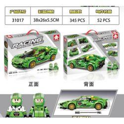 LEYI 31017 Xếp hình kiểu Lego RACING Passion Car Huracan GT3 Xe Huracan GT3 Pull Back 345 khối