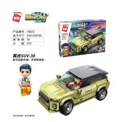 Enlighten 14023 Qman 14023 KEEPPLEY 14023 Xếp hình kiểu Lego MINECITY My City Wing Tiger SUV-38 Cánh Tiger SUV-38 275 khối