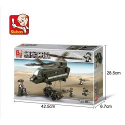 SLUBAN M38-B6600 B6600 6600 M38B6600 38-B6600 Xếp hình kiểu Lego LAND FORCES 2 Army Supplerant Transport Plane Máy Bay Vận Tải Chinook 370 khối