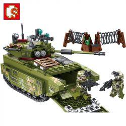 SEMBO 105564 Xếp hình kiểu Lego IRON BLOOD HEAVY EQUIPMENT Iron Plate ZTD-05 Amphibious Assault Car Xe Tấn Công đổ Bộ ZTD-05 413 khối