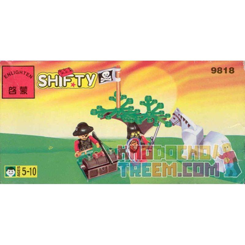 Enlighten 9818 Qman 9818 KEEPPLEY 9818 Xếp hình kiểu Lego Treasure Defense Bảo Vệ Kho Báu 15 khối