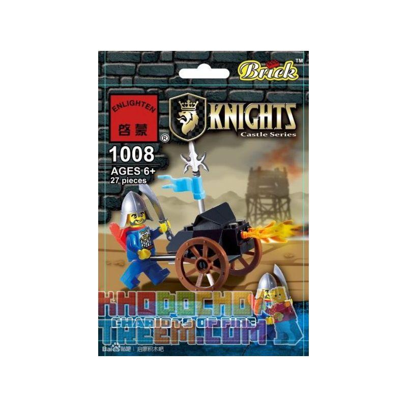 Enlighten 1008 Qman 1008 KEEPPLEY 1008 Xếp hình kiểu Lego Chariots Of Fire Flame Chariot Cỗ Xe Lửa 27 khối
