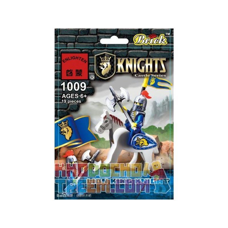 Enlighten 1009 Qman 1009 KEEPPLEY 1009 Xếp hình kiểu Lego Lion King Knight Lion Knight Hiệp Sĩ Sư Tử 19 khối