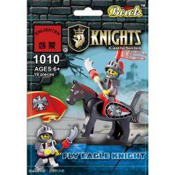 Enlighten 1010 Qman 1010 KEEPPLEY 1010 Xếp hình kiểu Lego Fly Eagle Knight Flying Eagle Knight Hiệp Sĩ đại Bàng 19 khối