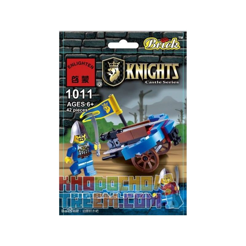 Enlighten 1011 Qman 1011 KEEPPLEY 1011 Xếp hình kiểu Lego Big Ballista Large Strong Car Ballista Lớn 42 khối