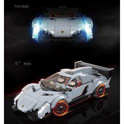 QUANGUAN QUAN GUAN 100136 Xếp hình kiểu Lego Racing Lamborghini Veneno Famous Car Lamborghini Poison Lamborghini độc 322 khối