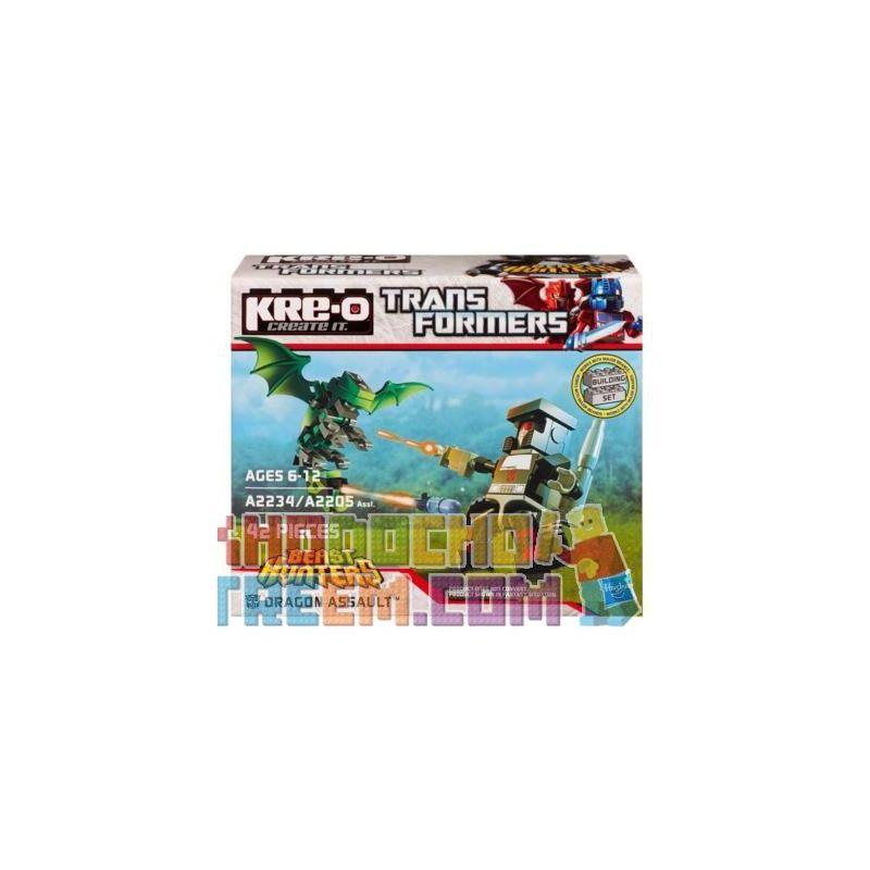 KRE-O A2234 2234 Xếp hình kiểu Lego Dragon Assault Set Dragon Strike Dragon Strike. 42 khối