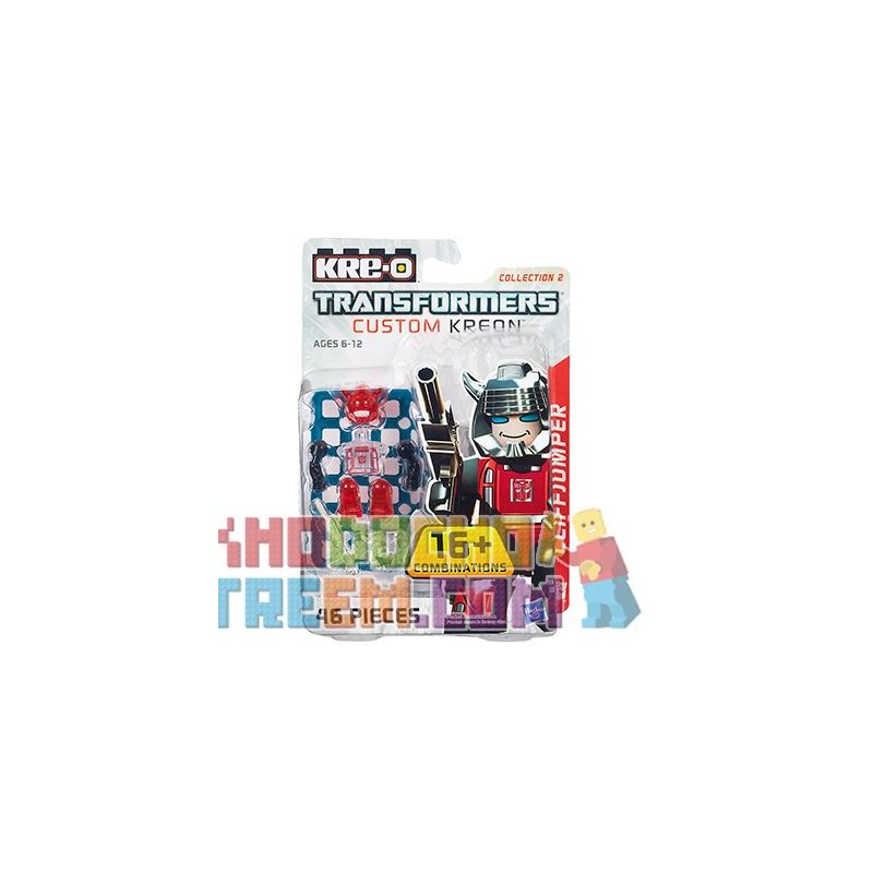 KRE-O A7314 7314 Xếp hình kiểu Lego COLLECTABLE MINIFIGURES Custom KREON Cliffjumper Set Custom Kreon House Flies Over The Mountain Nhân Vật Nhỏ KREON Tùy Chỉnh Bay Qua Những Ngọn Núi 46 khối