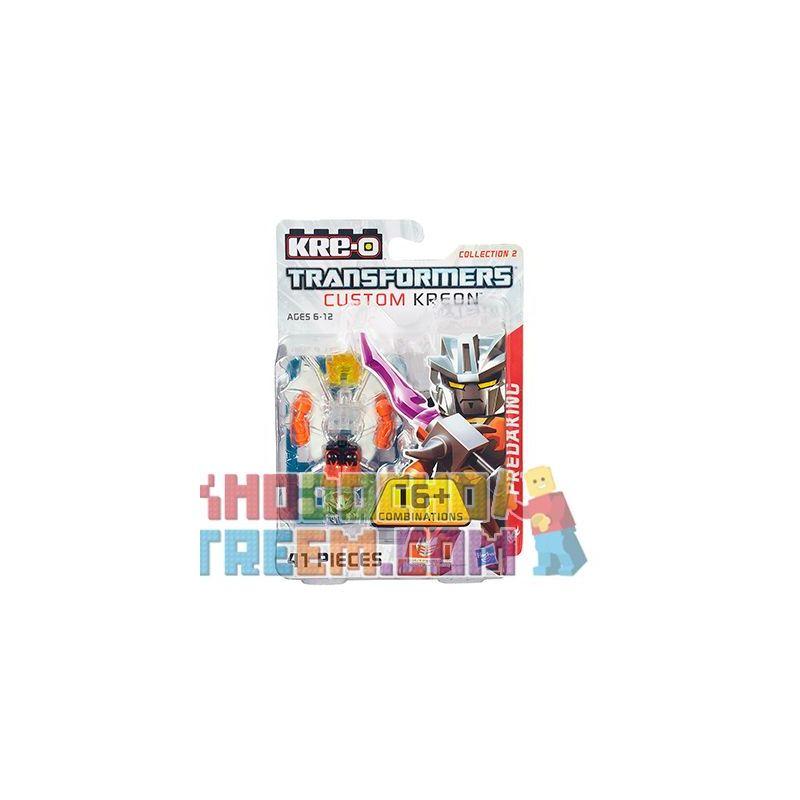 KRE-O A7319 7319 Xếp hình kiểu Lego COLLECTABLE MINIFIGURES Custom KREON Predaking Set Custom Kreon People Rushing Clouds Cấu Hình Nhỏ KREON Tùy Chỉnh 41 khối