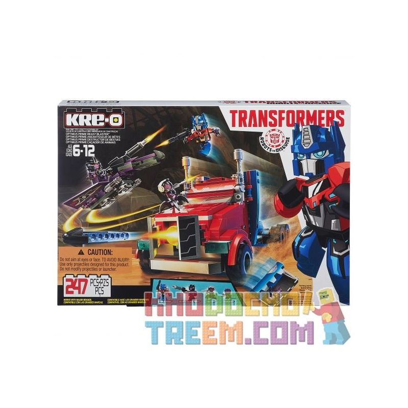 KRE-O B0951 0951 Xếp hình kiểu Lego Optimus Prime Beast Blaster Optimus. 247 khối
