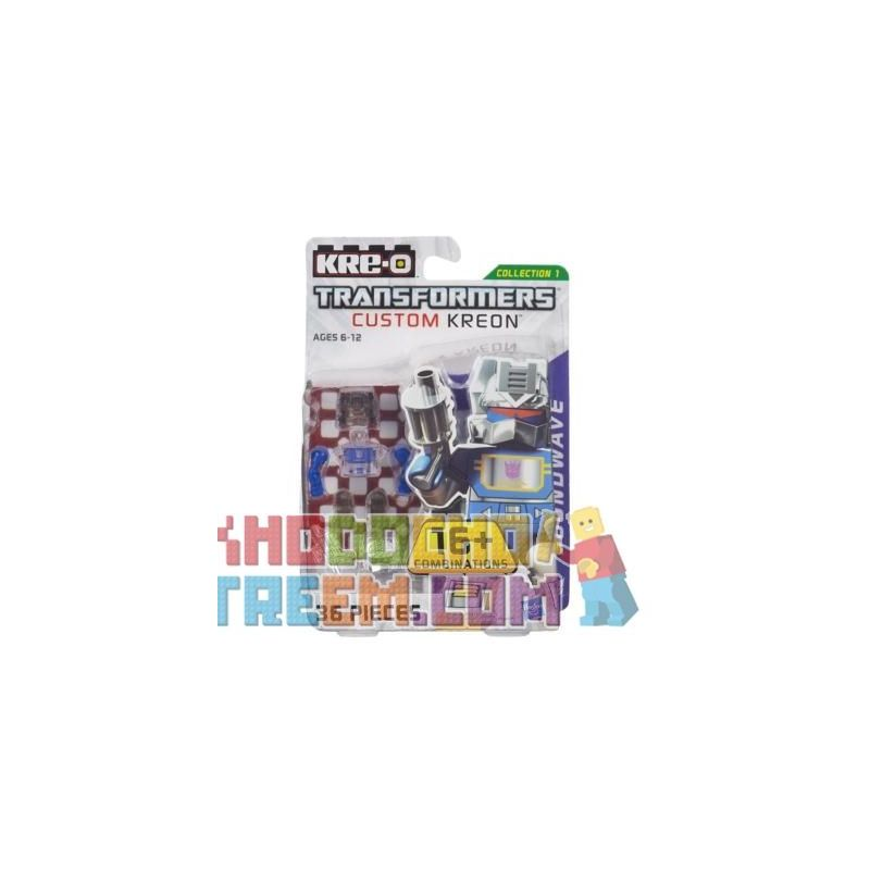 KRE-O A6090 6090 Xếp hình kiểu Lego TRANSFORMERS Kre-O Transformers Custom Kreon Soundwave Set KRE-O Transformers Custom People Kre-O Transformers Tùy Chỉnh Minifigure Sonic 36 khối