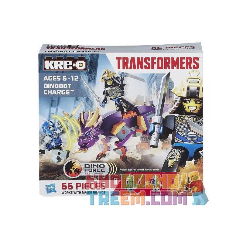 KRE-O A6949 6949 Xếp hình kiểu Lego DINO Dinobot Charge Dinosaur King Kong Khủng Long Vua Kong. 66 khối