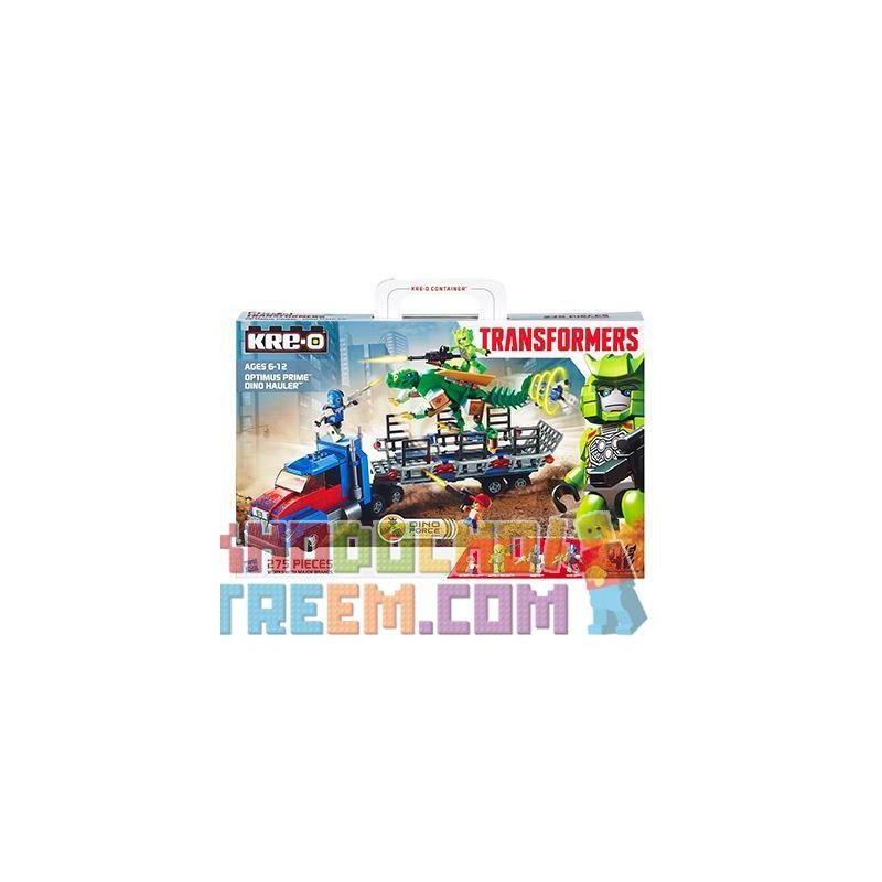 KRE-O A7796 7796 Xếp hình kiểu Lego DINO Optimus Prime Dino Hauler Set Optimus Pilla Dinosaur Transportation Vận Chuyển Khủng Long Optimus Prime 275 khối