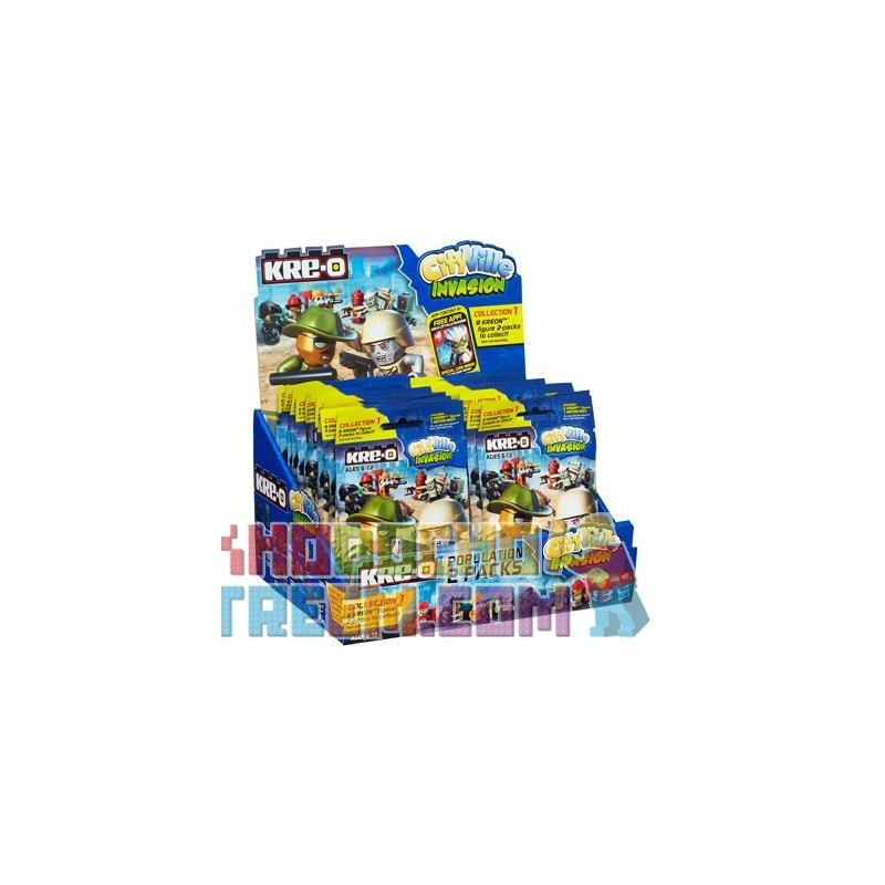 KRE-O A3244 3244 K0171 0171 Xếp hình kiểu Lego Population 2-Pack Star City Man Túi Minifigure