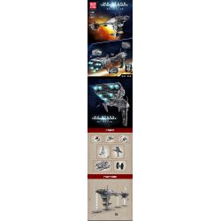 MOULDKING MOULD KING 21001 REBRICKABLE MOC-5083 5083 MOC5083 Xếp hình kiểu Lego STAR WARS Mortesv's UCS Nebulon-B Medical Frigate Nebula-B Medical Frigate Khinh Hạm Y Tế Nebula-B 5724 khối