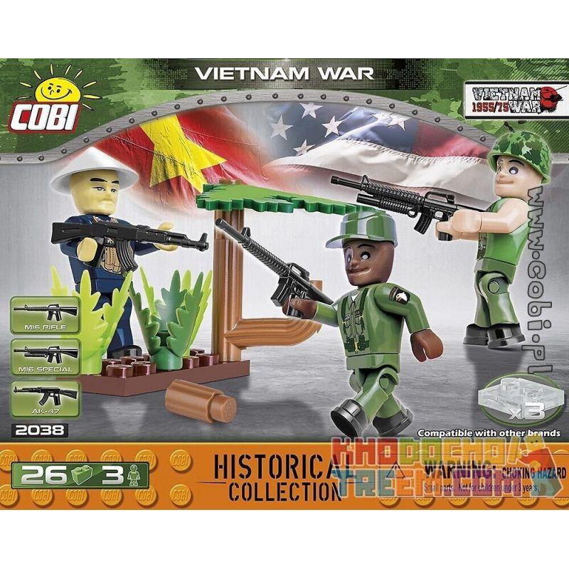COBI 2038 2038 Xếp hình kiểu Lego MILITARY ARMY Vietnam War Chiến Tranh Việt Nam 5 khối