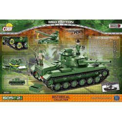 COBI 2233 2233 Xếp hình kiểu Lego MILITARY ARMY M60 Patton M60 Barton Tank Xe Tăng M60 Patton 605 khối