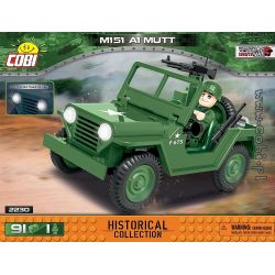 COBI 2230 2230 Xếp hình kiểu Lego MILITARY ARMY M151 A1 Mutt M151 A1 MUTT. 91 khối