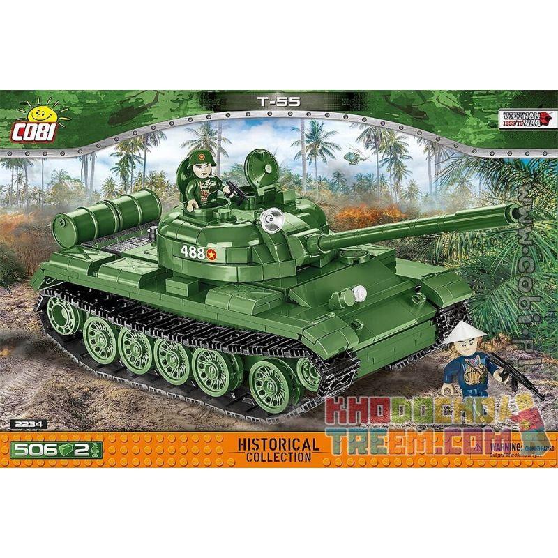 COBI 2234 2234 Xếp hình kiểu Lego MILITARY ARMY T-55 Tank Xe Tăng T-55 506 khối