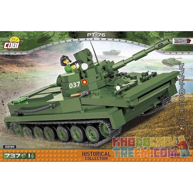 COBI 2235 2235 Xếp hình kiểu Lego MILITARY ARMY PT-76 Tank Xe Tăng PT-76 737 khối